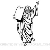 MOSES VECTOR CLIP ART IMAGE.eps
