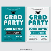 Grad party vector template