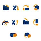 Graphs Icons Pack
