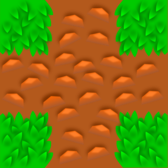 Grass tile pattern - game component - vector based