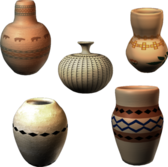 Assorted Pottery PSD