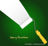 Paint Roller Christmas Background