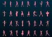 Vector Girls Silhouettes