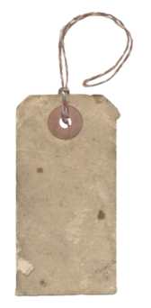 old grungy paper tag PSD