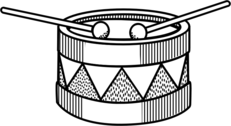 drum - lineart