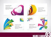 Free vector about abstract green business card template