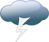 Thunderstorm Weather Symbols