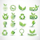 Low carbon green icon