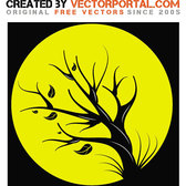 TREE IN THE FULL MOON VECTOR.eps