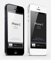 3-4 weergave iPhone 5 Psd Vector Mockup