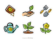 Cartoon Gardening Icons