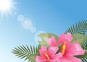 Free Stylish Polynesian Flowers Background