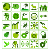 eco green icon set