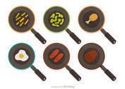Frying Pan Vector Pack