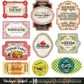 Vector Fashion Bottle Label