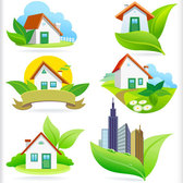 Eco green icons