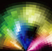 Colorful Radial Tilled Mosaic Background