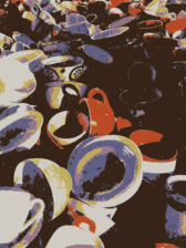 A pile of cups
