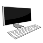 Desktop Monitor and Keyboard