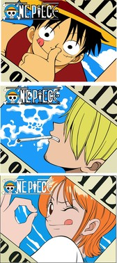 Vector One Piece One Piece Luffy Nami Hong Custard