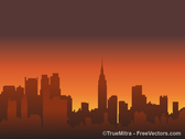 Sunset Skylines Background