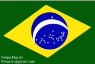Flag Brazil Crystal