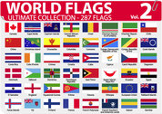 World national or regional flags Vector-2