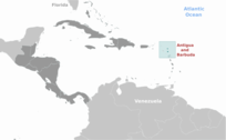 Antigua and Barbuda location label
