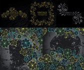 Fashionable Pattern Vectors Hand-Painted Material