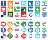 Social Sites Icon Set (21 Icons)