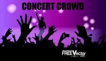 Free Vector Concert Crowd