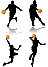 Basketball Action Figure Silhouettes