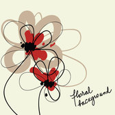Floral hand-painted background vector-2