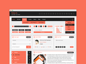 Flatty UI Free PSD Kit