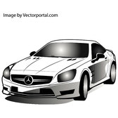 MERCEDES CAR VECTOR IMAGE.eps