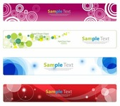 Horizontal Banner Set for Web