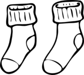 clothing pair of haning socks