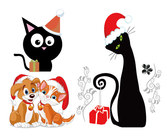 Dogs And Cats Christmas