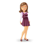 Young Girl Vector Character