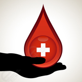 Donate blood save life- Blood drops