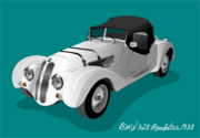 BMW 328 Roadster 1938 (with background)