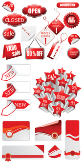 Vector Discount Supermarket With Labels