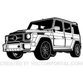CAR MERCEDES BRABUS VECTOR GRAPHICS.eps
