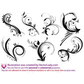 FLORAL ORNAMENTS VECTOR COLLECTION.eps