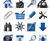 Vector Blue Website and Internet Icons