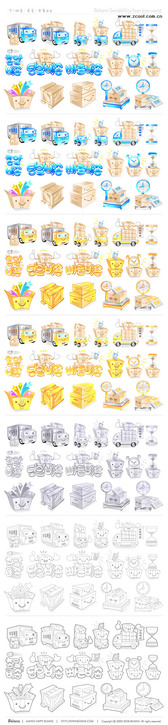 Cute Car Icon Vector Graphic Goods-2