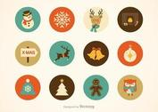Free Hipster Christmas Vector Icons