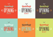 Baseball Opening Day Logo Set