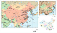 The Chinese version and English version of China Vector Maps