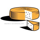 CHEESE WHEEL VECTOR GRAPHICS.eps